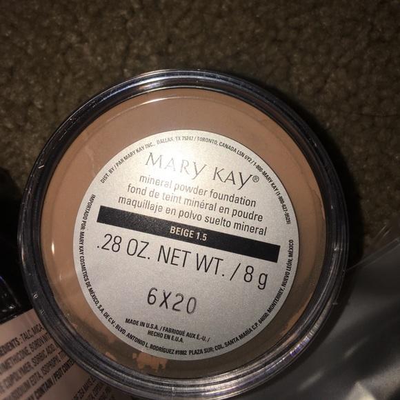 Mary Kay Mineral Powder Foundation Beige 5 Vs Beige 1