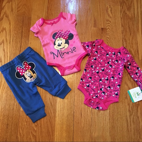 Disney Baby - NEW Disney Baby 3-Piece Minnie Mouse Set ...