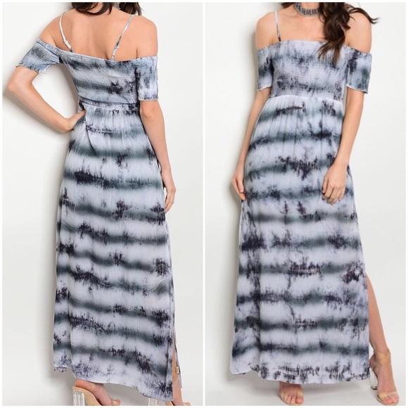 Tye Dye Maxi Dresses Navy