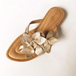 549793670bc9 78% Off Born Shoes Crown Light Gold Flower Sandals Poshmark