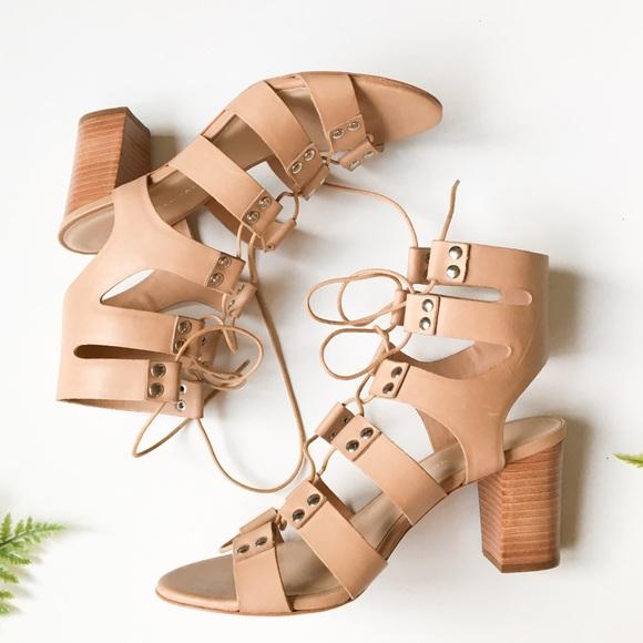 Loeffler Randall Shoes - Loeffler Randall Lace Up Gladiator Heel Sandals