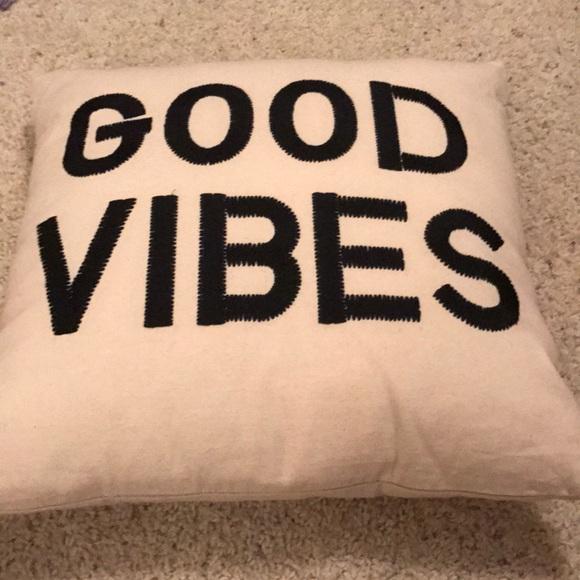 uo good vibes pillow