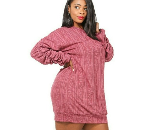 New Plus Size Sweater Dress