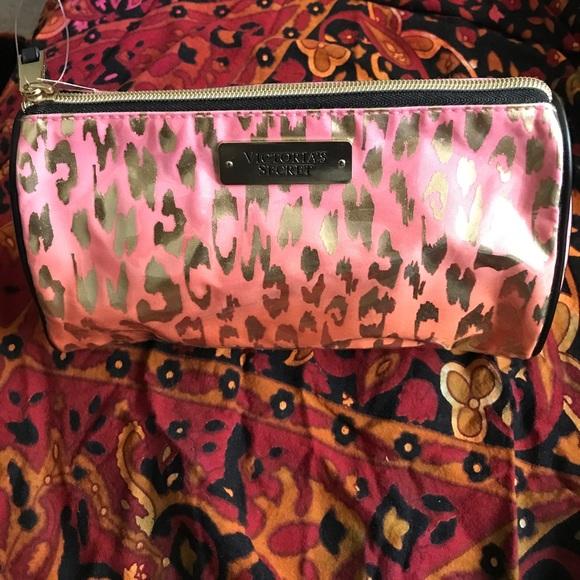 Large Leopard Print Cosmetic Bag