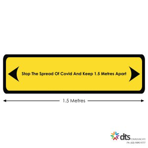 XLART DTS Covid19 Covid Floor Stickers Decals Social Distancing Sydney Melbourne Australia Stop The Spread Keep Apart