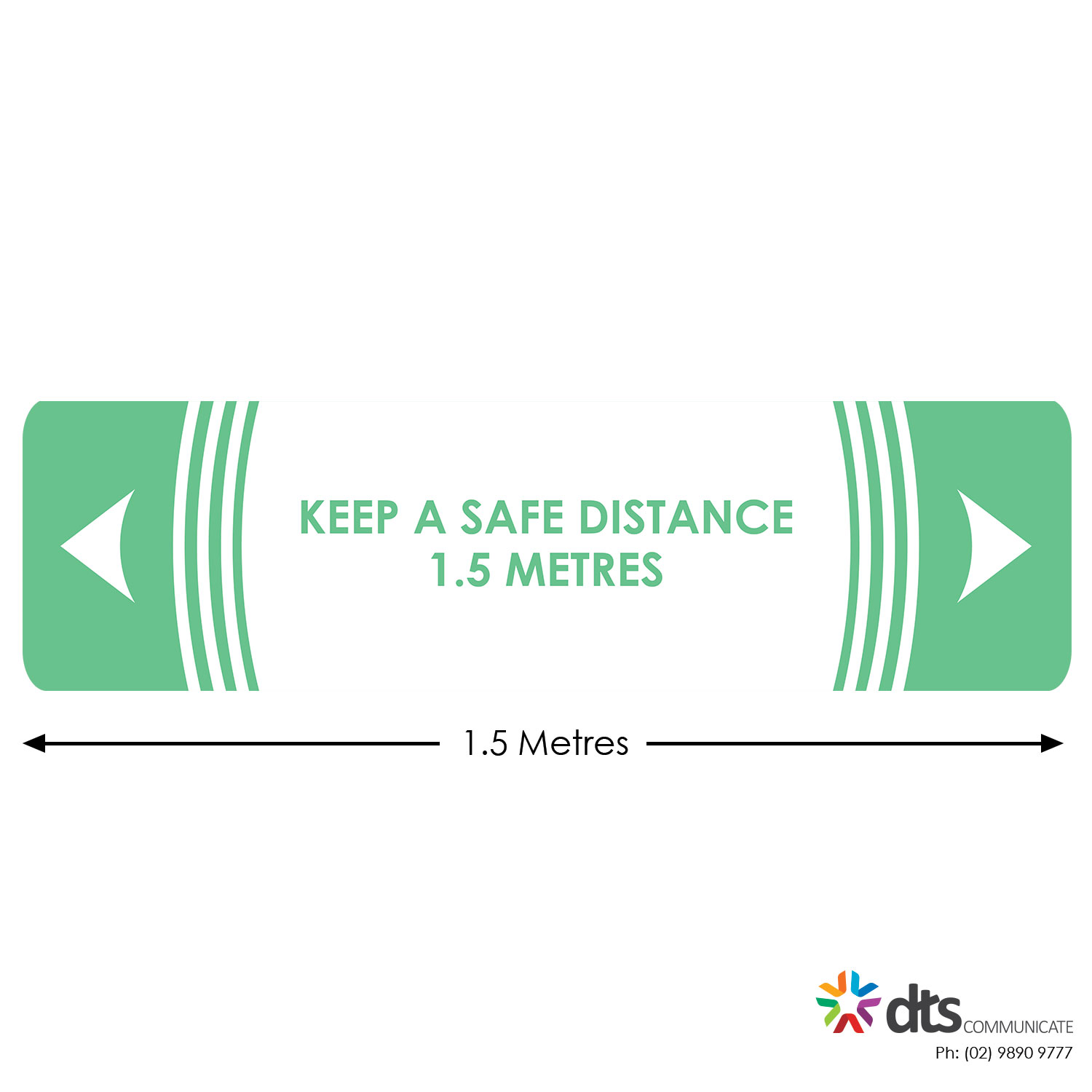 XLART DTS Covid19 Covid Floor Stickers Decals Social Distancing Sydney Melbourne Australia keep a safe distance Style 40