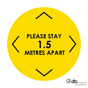 XLART DTS Covid19 Covid Floor Stickers Decals Social Distancing Sydney Melbourne Australia please stay apart style 17