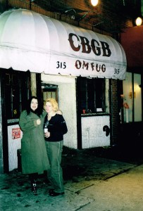 Julie at CBGB music venue