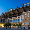 The TCU football stadium in Fort Worth Texas