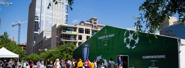 Heineken UCL Trophy Tour at Klyde Warren Park