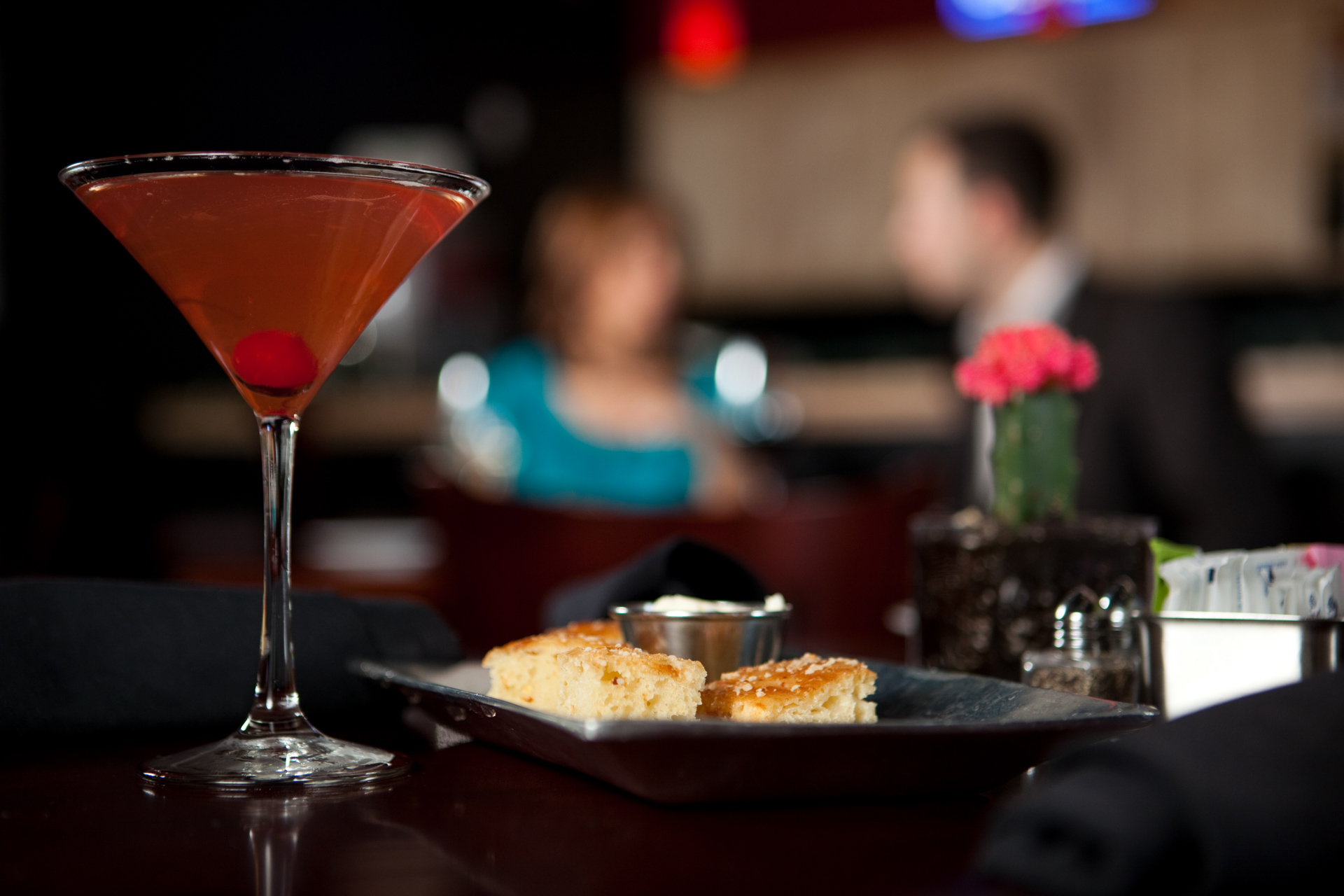 Editorial image of bread and Martini