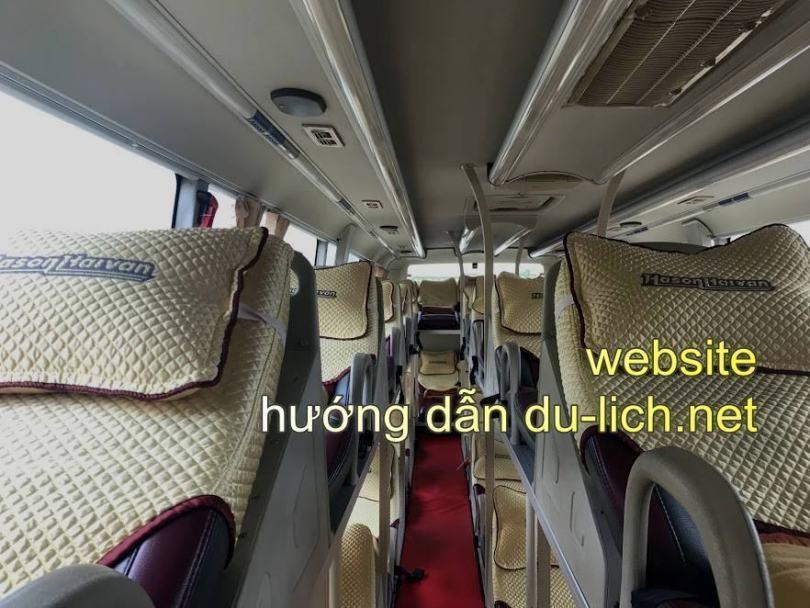 Hình ảnh xe khách Hà Sơn Hải Vân chạy tuyến Hà Nội Sapa