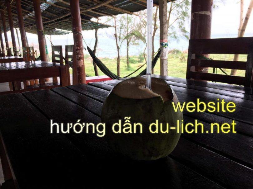 Làm trái dừa sim nước ngọt ra ngồi ngắm biển Tuy An nào