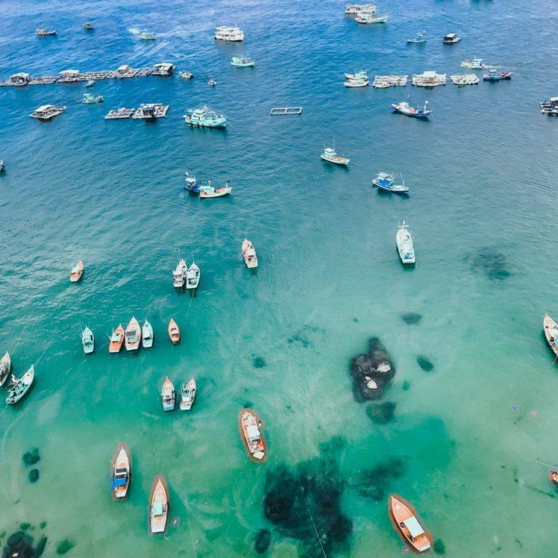 Hình ảnh bãi biển ở Bãi Trào Hòn Thơm Phú Quốc