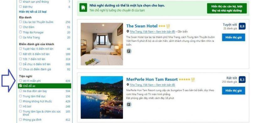 Những khách sạn Nha Trang có bãi đậu xe miễn phí qua đêm