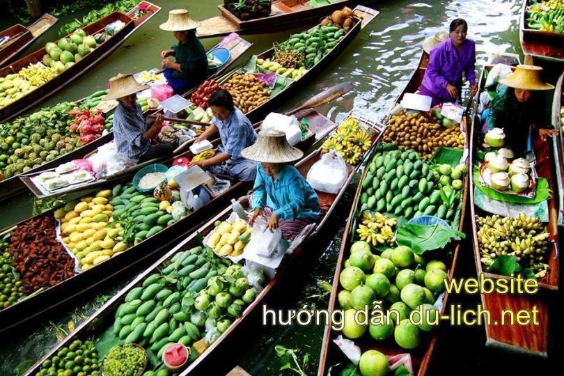 Hình ảnh chợ nổi Damnoen Saduak