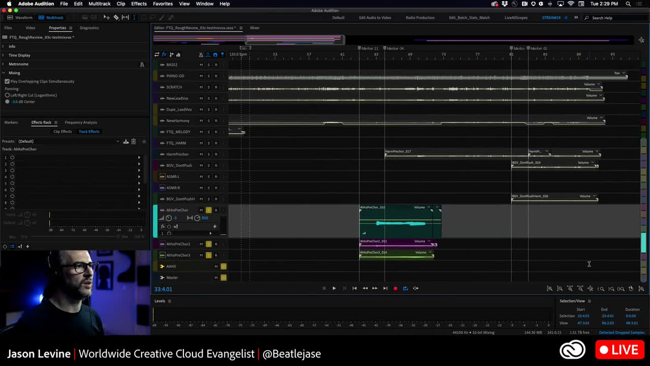 What's New in Adobe Audition 2020 + mixing some vocals #audio #multichannel #mixing