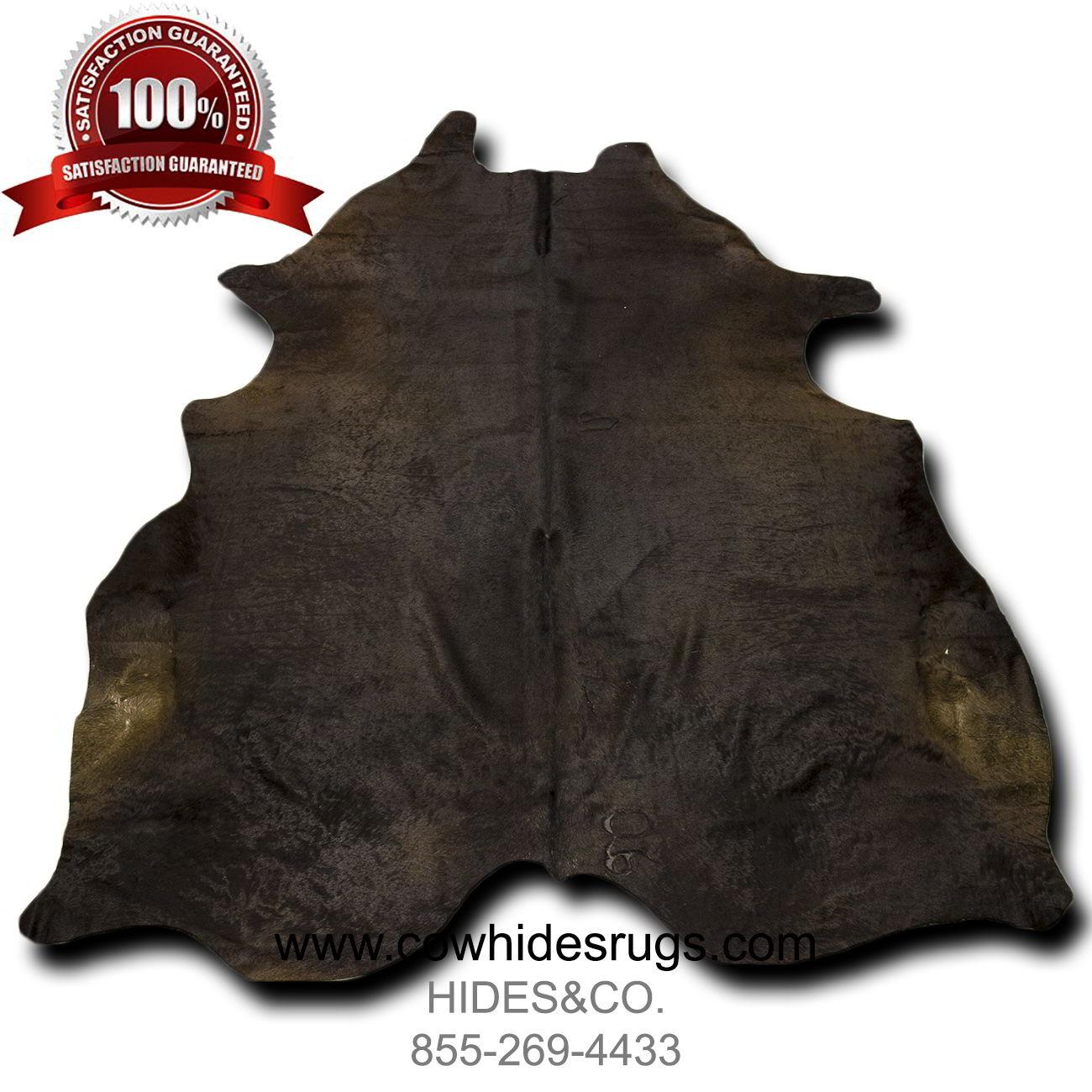 Dark Brown Tri Color Cowhide Rug 7 3 Ft X 6 Ft Natural Genuine Cowhide