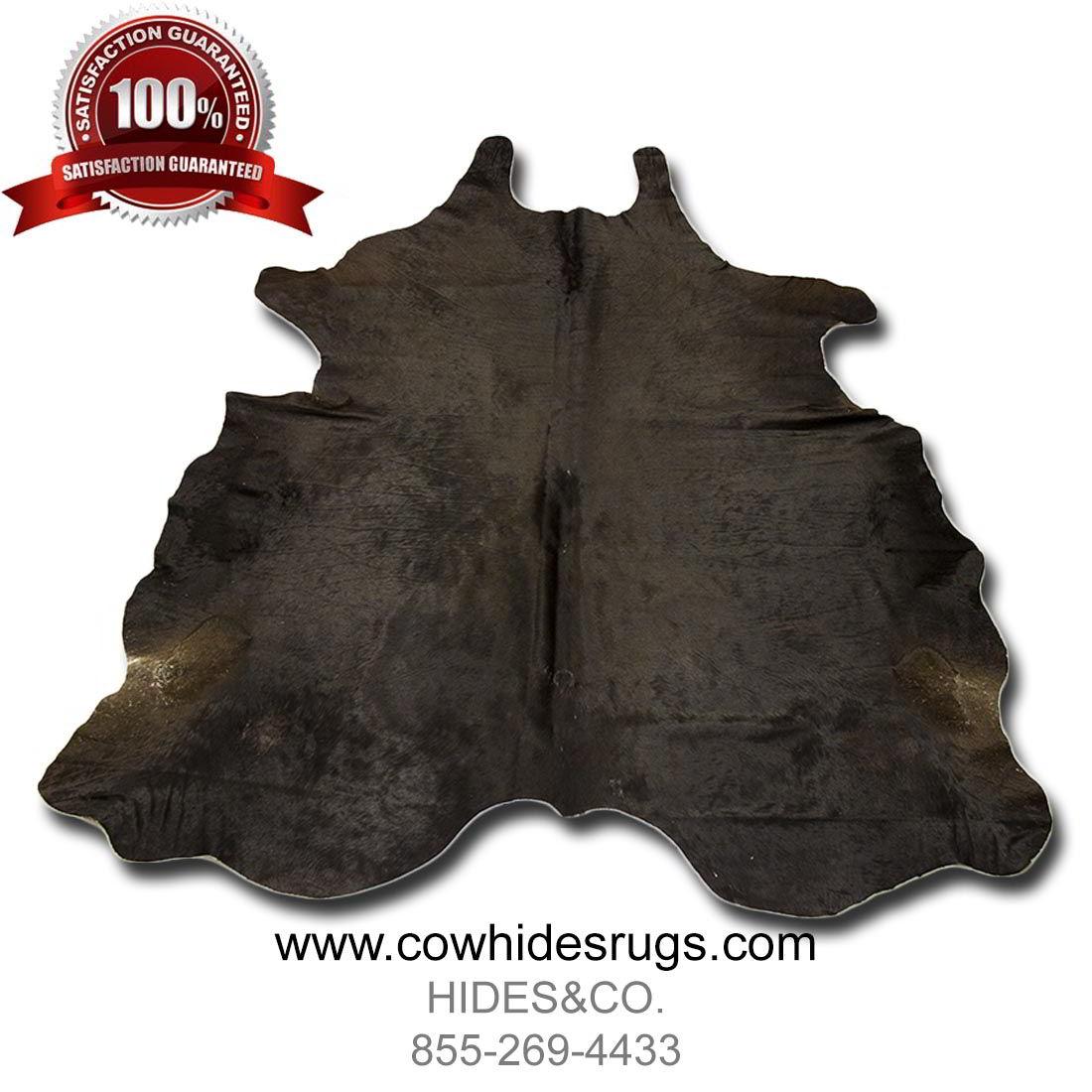 Silken Dark Brown Tri Color Cowhide Rug 6 8 Ft X 6 Ft Natural Genuine Cowhide
