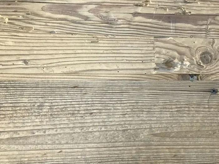 [Projet en cours] Sablage d'un bardage bois pour lui donner un aspect vieilli
