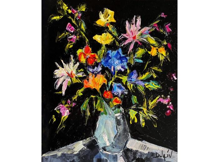 Bouquet en Noir 25'' x 21''