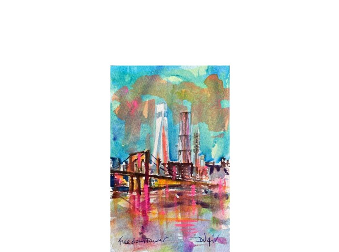 Freedom Tower 7'' x 4''12