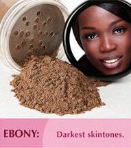 Ebony: Darkest skintones.