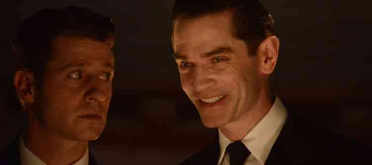 "GOTHAM: L-R: Ben Mckenzie and James Frain in the ""Rise of the Villains: Mommy's Little Monster"" episode of GOTHAM airing Monday, Nov. 2 (8:00-9:00 PM ET/PT) on FOX. ©2015 Fox Broadcasting Co. Cr: FOX."