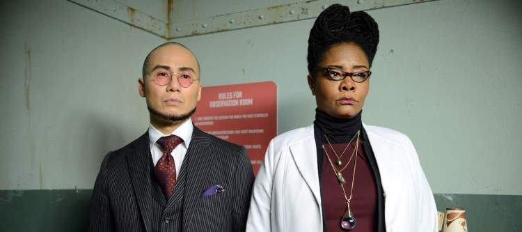 """GOTHAM: L-R: Guest stars BD Wong and Tonya Pinkins in the """"Wrath of the Villains: A Dead Man Feels No Cold"""" episode of GOTHAM airing Monday, March 7 (8:00-9:01 PM ET/PT) on FOX. ©2016 Fox Broadcasting Co. Cr: FOX."""