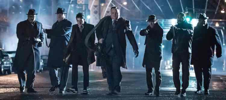 "GOTHAM: L- R:  (Third from left) Robin Lord Taylor and Drew Powell in the ""Wrath of the Villains: Transference"" season finale episode of GOTHAM airing Monday, May 23 (8:00-9:00 PM ET/PT) on FOX. ©2016 Fox Broadcasting Co. Cr: Jeff Neumann/FOX"