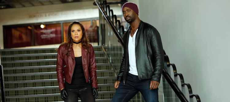 """LUCIFER: L-R: Lesley-Ann Brandt and D.B. Woodside in the """"Trip To Stabby Town"""" episode of LUCIFER airing Monday, Nov. 14 (9:01-10:00 PM ET/PT) on FOX. ©2016 Fox Broadcasting Co. Cr: Bettina Strauss/FOX"""