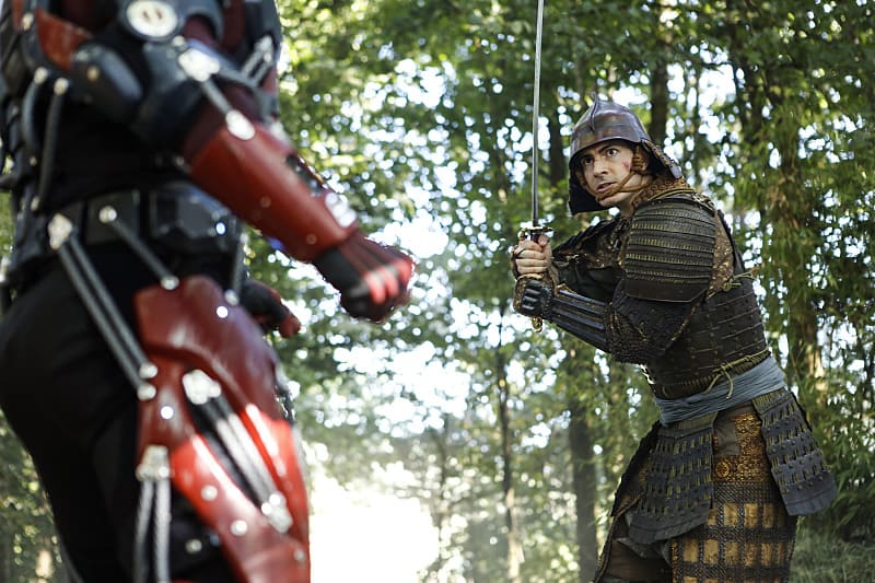 """DC's Legends of Tomorrow --""""Shogun""""-- Image LGN203a_0166.jpg -- Pictured: Brandon Routh as Ray Palmer/Atom -- Photo: Bettina Strauss/The CW -- © 2016 The CW Network, LLC. All Rights Reserved."""