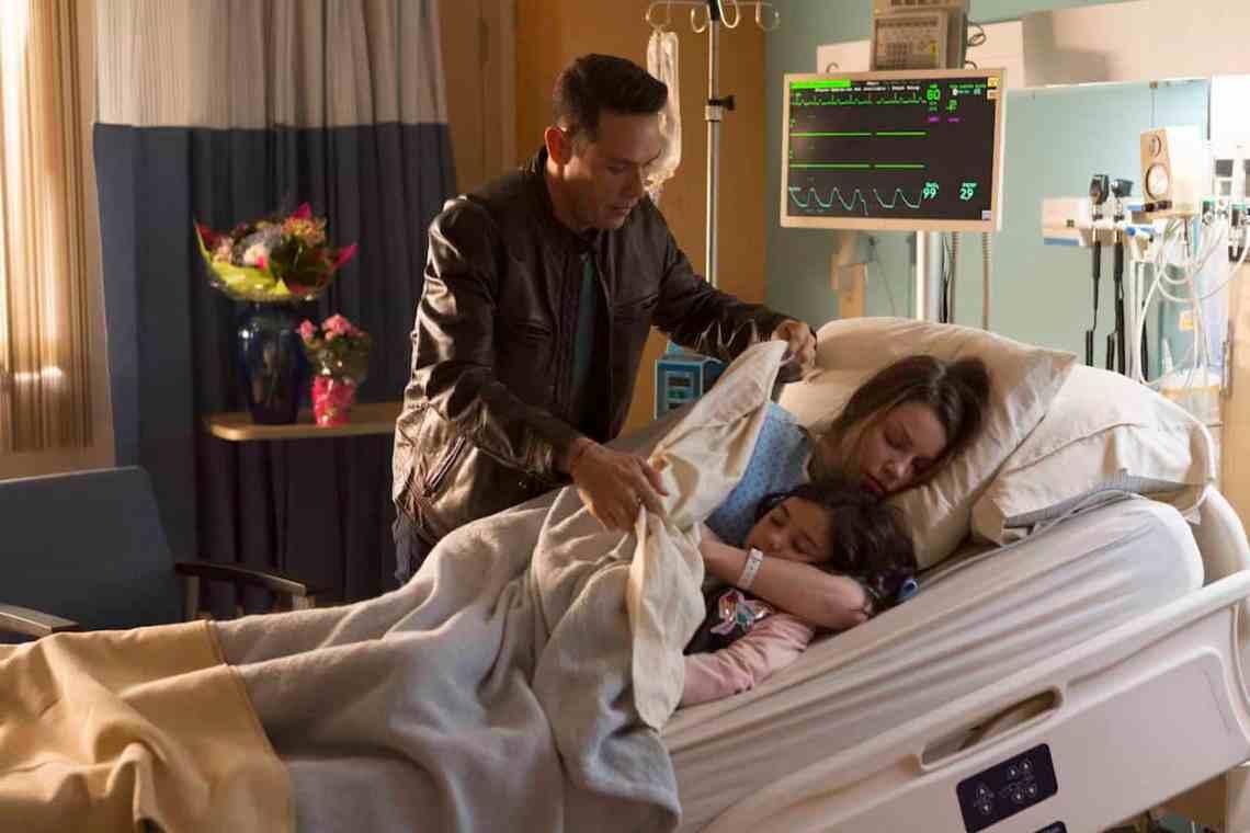 "LUCIFER: L-R: Kevin Alejandro, Lauren German and Scarlett Estevez in the ""A Good Day to Die"" winter finale episode of LUCIFER airing Monday, Jan. 30 (9:01-10:00 PM ET/PT) on FOX. Cr: Michael Courtney/FOX."