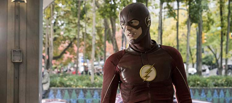 "The Flash -- ""The Present"" -- Image FLA309a_0225b.jpg -- Pictured: Grant Gustin as The Flash -- Photo: Katie Yu/The CW -- © 2016 The CW Network, LLC. All rights reserved."