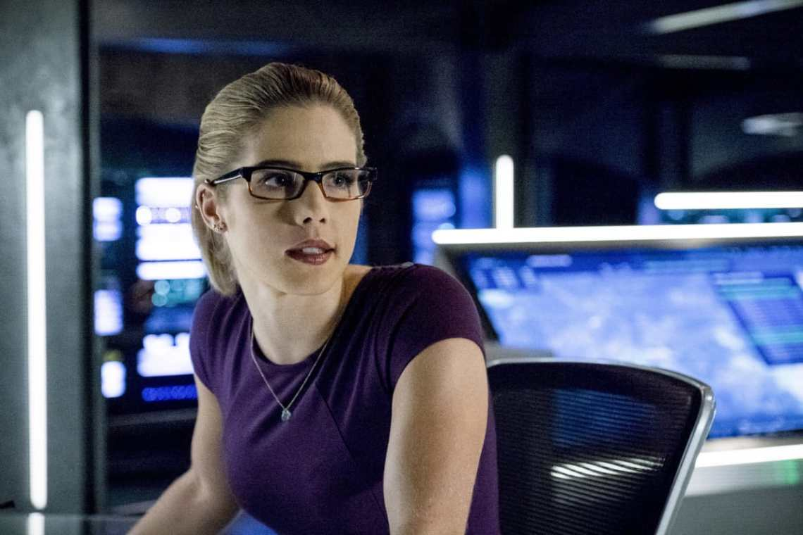 "Arrow -- ""Bratva"" -- Image AR512a_0241b.jpg -- Pictured: Emily Bett Rickards as Felicity Smoak -- Photo: Cate Cameron/The CW -- © 2017 The CW Network, LLC. All Rights Reserved."