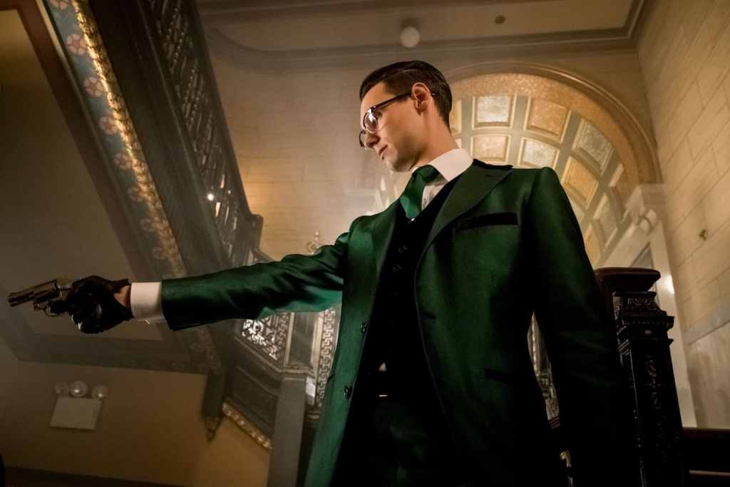 "GOTHAM: Cory Michael Smith in the ""Mad City: How The Riddler Got His Name"" spring premiere episode of GOTHAM airing Monday, April 24 (8:00-9:01 PM ET/PT) on FOX. Cr: Jeff Neumann/FOX"