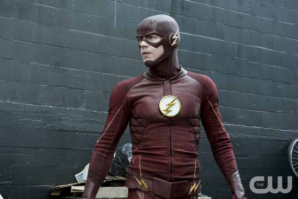 """The Flash -- """"The Once and Future Flash"""" -- FLA319a_0096b.jpg -- Pictured: Grant Gustin as The Flash -- Photo: Katie Yu/The CW -- © 2017 The CW Network, LLC. All rights reserved."""