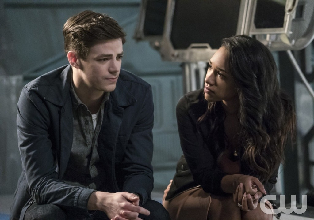 "The Flash -- ""Cause and Effect"" -- FLA321b_0337b.jpg -- Pictured (L-R): Grant Gustin as Barry Allen and Candice Patton as Iris West -- Photo: Katie Yu/The CW -- © 2017 The CW Network, LLC. All rights reserved."