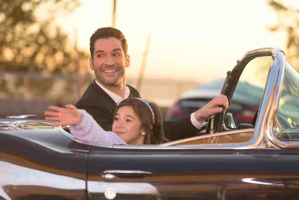 "LUCIFER: L-R: Tom Ellis and Scarlett Estevez in the ""Deceptive Little Parasite"" episode of LUCIFER airing Monday, May 8 (9:01-10:00 PM ET/PT) on FOX. Cr: Michael Courtney/FOX"