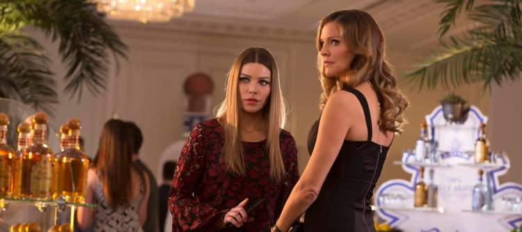 "LUCIFER: L-R: Lauren German and Tricia Helfer in the ""Sympathy for the Goddess"" episode of LUCIFER airing Monday, May 22 (9:01-10:00 PM ET/PT) on FOX. Cr: Michael Courtney/FOX"