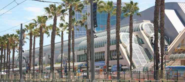 View of San Diego Convention Center from across Harbor Drive