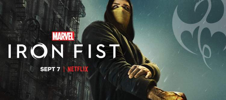 Marvel's Iron Fist Cover premiering on Netflix Sept 7
