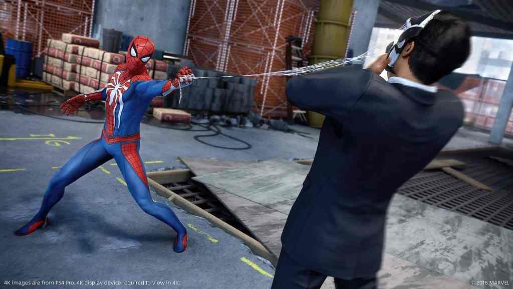 Marvel's Spider-Man Webbing a villain