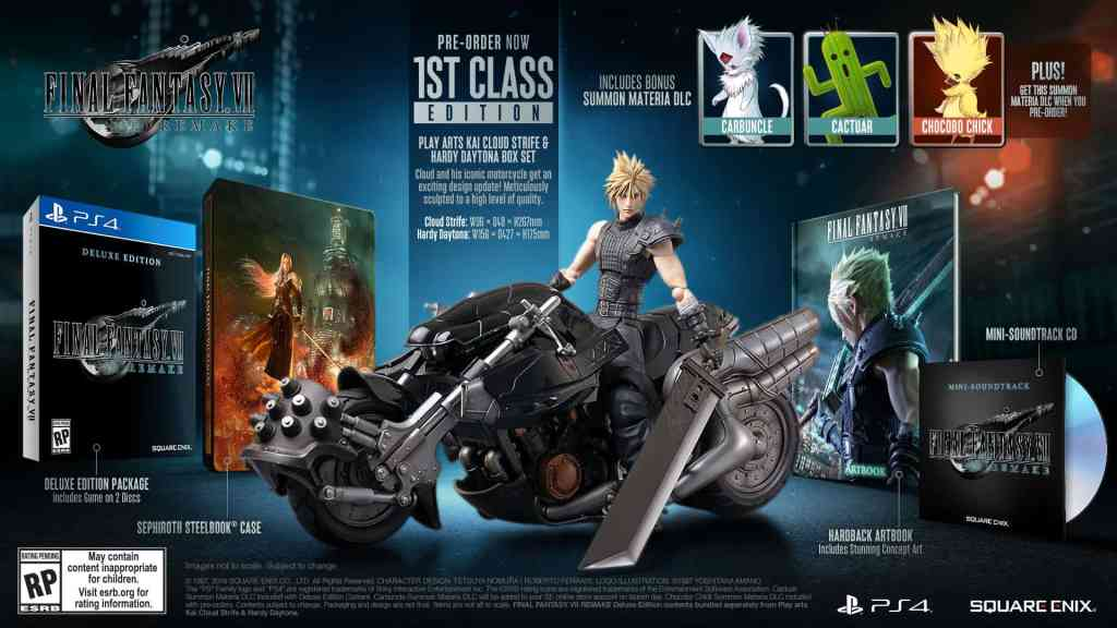 Final Fantasy VII Remake 1st Class Edition Contents