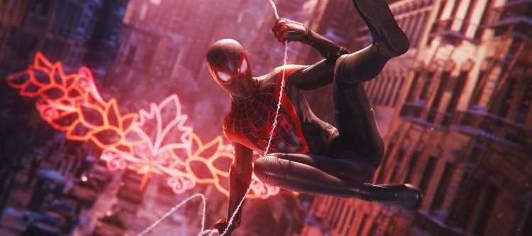 Spider-Man - Miles Morales swinging