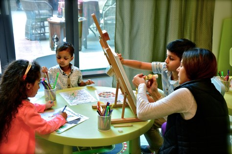 Kids play area at Friday brunch Boulevard Kitchen Manzil Downtown Dubai