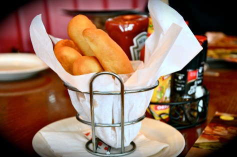 Complimentary bread sticks
