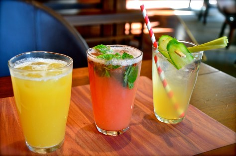 Mocktails - dhs 27(from left:vanduke, Grapefruit Mojito, Chantara cooler)