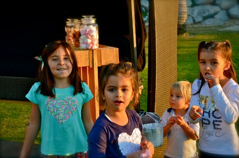Kids enjoying their candies at Friday Beach Barbecue