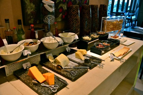 Cheese station & honey - breakfast at Afya